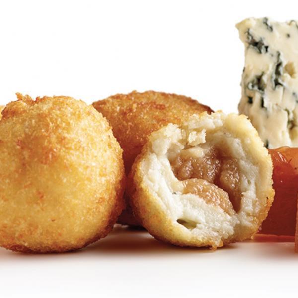 Besamélas de queso azul y membrillo (30g)