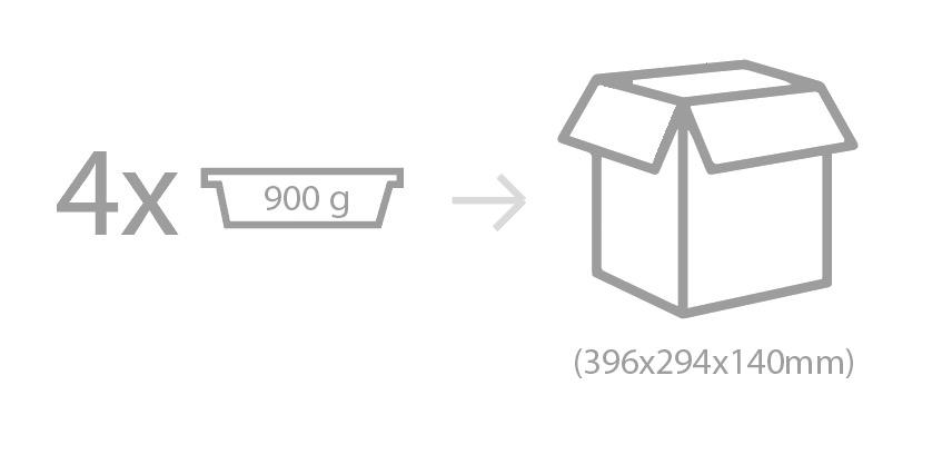 Envasado: Barqueta de PP-EVOH-PP con cierre en film de PP-EVOH termosellado