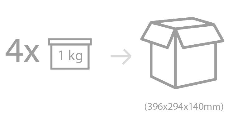 Envasado: tarro de PP con tapa de PP